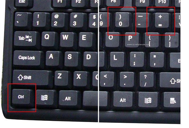 CTRL toets op toetsenbord